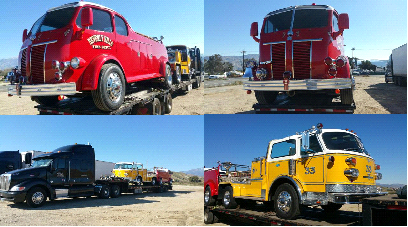 Antique Fire Truck Shipping and Transport Services